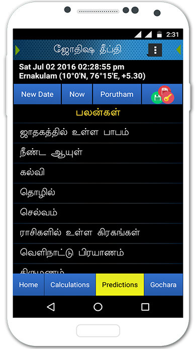 Tamil Astrology Software